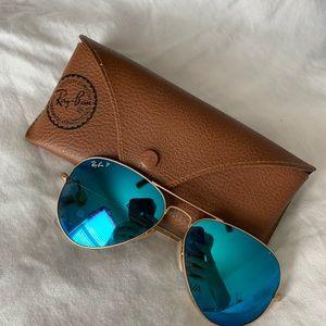 Aviator Blue Mirror Sunglasses Ray-ban Polarized